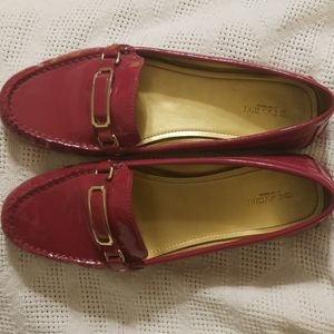 Pink Coach Flynn Loafers